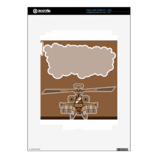 Helicopter Front Decal For The iPad 2