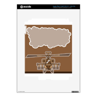Helicopter Front Decals For iPad 3