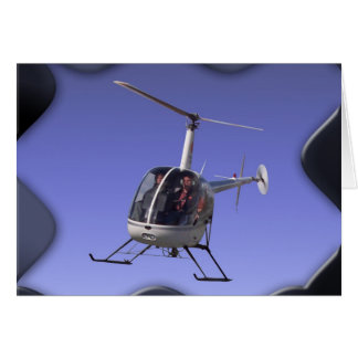 Helicopter Greeting Cards Flying Chopper Cards Greeting Card