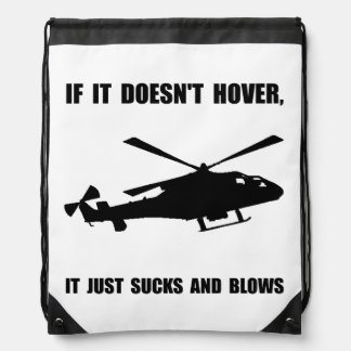 Helicopter Hover Cinch Bag