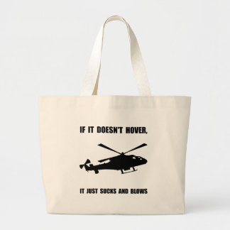 Helicopter Hover Jumbo Tote Bag