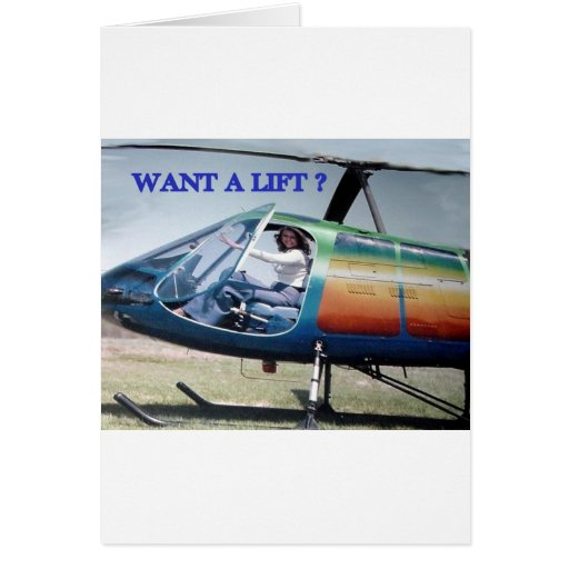 HELICOPTER HUMOR 1 GREETING CARDS