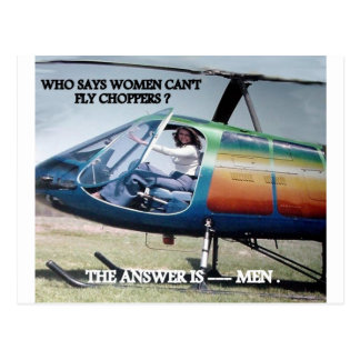 HELICOPTER HUMOR 1 POSTCARD