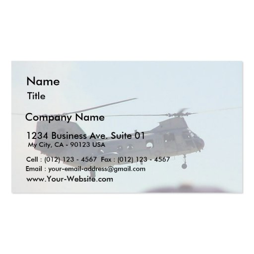 Helicopter In Air Double-Sided Standard Business Cards (Pack Of 100)