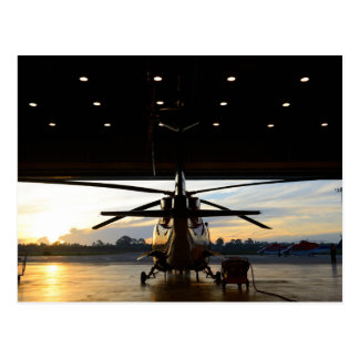 Helicopter in Air Hangar Postcard