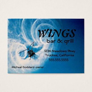 Helicopter In Flight-Clouds Business Card