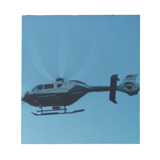 Helicopter in Motion Notepad