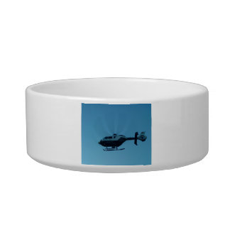 Helicopter in Motion Pet Bowl Cat Bowls