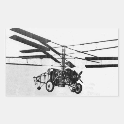 Helicopter Invention Rectangular Sticker