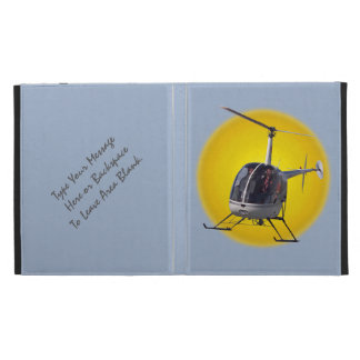 Helicopter iPad Case Personalized Helicopter Cases
