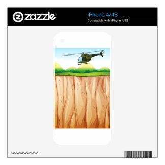 Helicopter iPhone 4 Decal