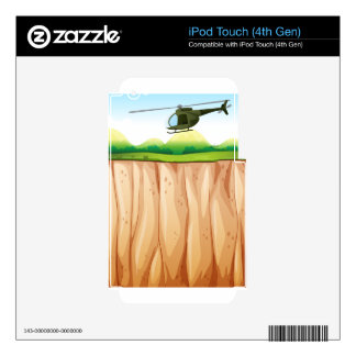 Helicopter iPod Touch 4G Decal