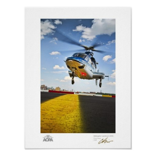 Helicopter Landing in NYC Gallery Print