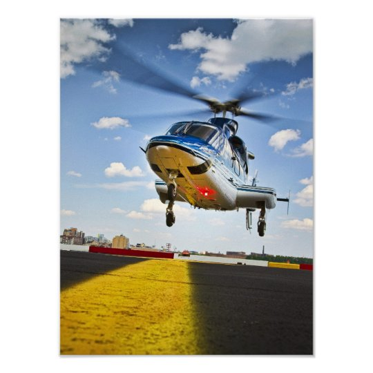 Helicopter Landing in NYC Poster