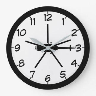 Helicopter Large Clock