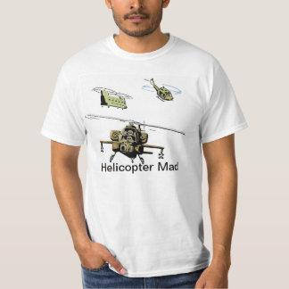 Helicopter Mad Cartoon Aviation Humor Shirt