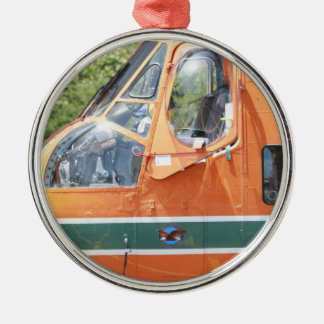 Helicopter Metal Ornament