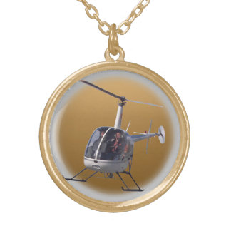 Helicopter Necklace Cool Flying Chopper Jewelry