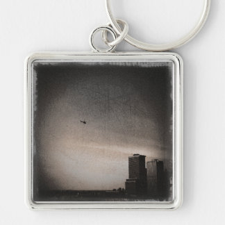 helicopter over new york bay keychain
