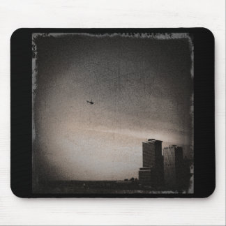 helicopter over new york bay mouse pad