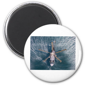 helicopter over water 2 inch round magnet