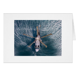 helicopter over water card