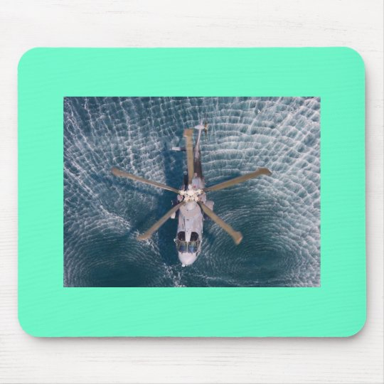helicopter over water mouse pad