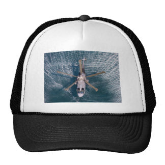 helicopter over water trucker hat
