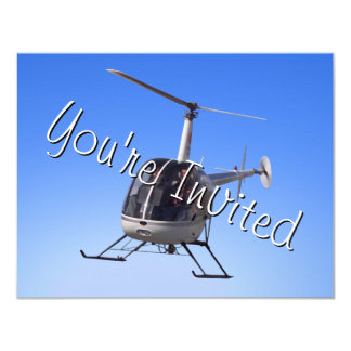Helicopter Party Invitations Helicopter RSVP Card