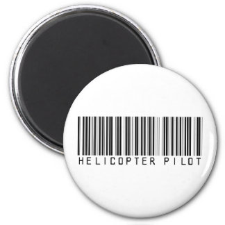 Helicopter Pilot Bar Code 2 Inch Round Magnet