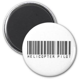 Helicopter Pilot Bar Code Magnet