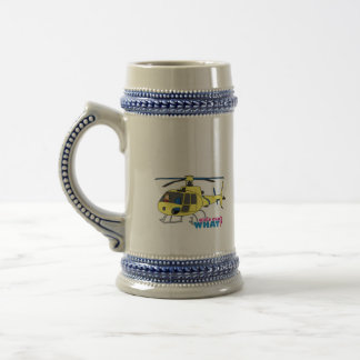 Helicopter Pilot Beer Stein