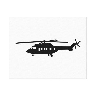 Helicopter pilot gallery wrapped canvas