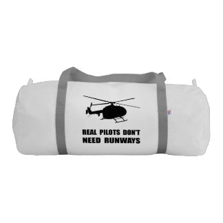 Helicopter Pilot Runways Gym Duffle Bag