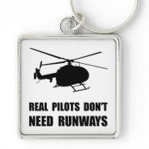 Helicopter Pilot Runways Keychain