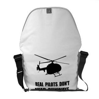 Helicopter Pilot Runways Messenger Bag