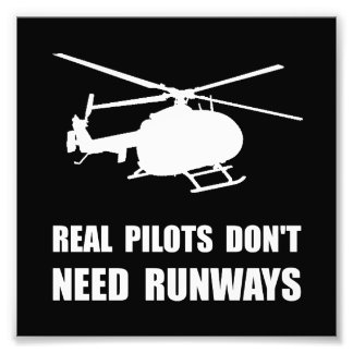 Helicopter Pilot Runways Photo Print