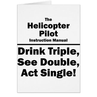 helicopter pilot stationery note card