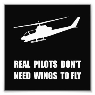 Helicopter Pilot Wings Photo Print