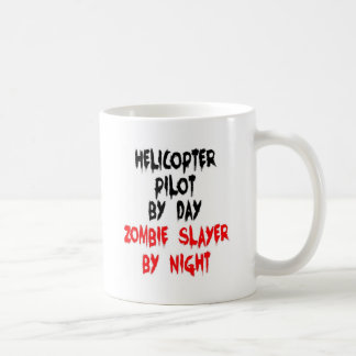 Helicopter Pilot Zombie Slayer Classic White Coffee Mug