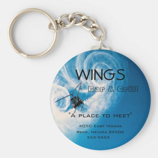 Helicopter Pilots-Business-Bar Logo Keychain