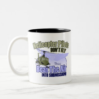 Helicopter Pilots Don't Fly [UH-1] Two-Tone Coffee Mug