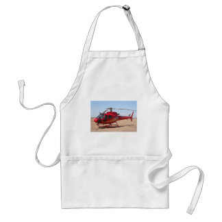 Helicopter, red adult apron