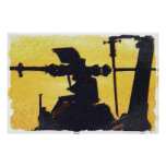 Helicopter Rotor - Sunset Print