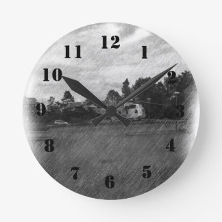 Helicopter Round Clock