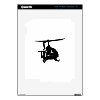 Helicopter Silhouette Decals For iPad 3
