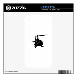 Helicopter Silhouette iPhone 4 Skin