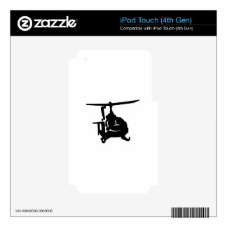 Helicopter Silhouette Skin For iPod Touch 4G