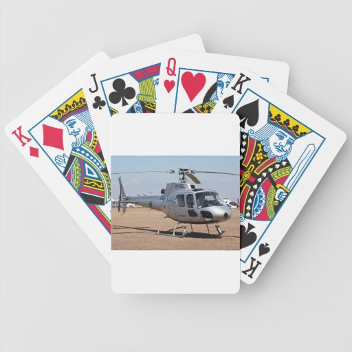 Helicopter (silver) poker deck