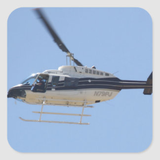 Helicopter Square Sticker